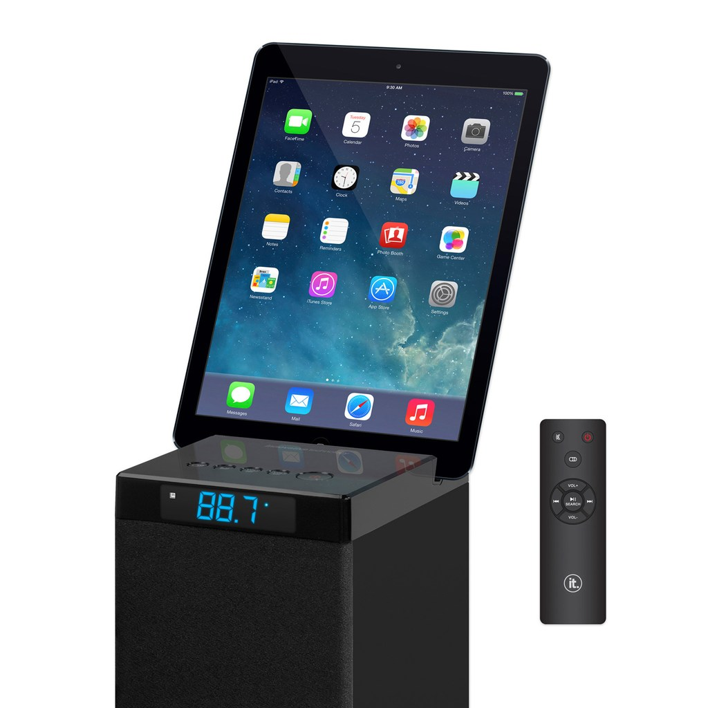 Innovative Technology 8-Inch Bluetooth Stereo Tower Speaker (ITSB-8)